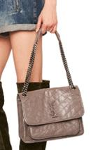 Saint Laurent Medium Niki Monogramme Chain Bag In Gray