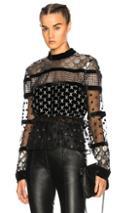 Dodo Bar Or Amaliya Top In Black,geometric Print,metallics