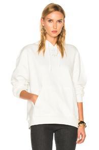 Adidas By Alexander Wang Logo Hoody In White