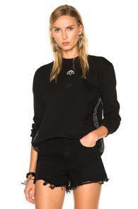 Adidas By Alexander Wang Logo Long Sleeve In Black