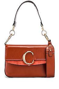 Chloe C Crossbody Bag In Brown