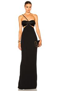 Brandon Maxwell Bustier Dress In Black