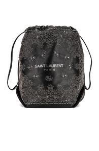 Saint Laurent Bandana Pouch Bag In Black