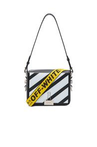 Off-white Diagonal Flap Bag In Black