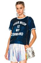 Ashish Your Wish Is My Command T-shirt In Blue,white