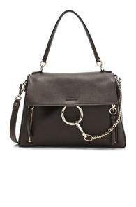 Chloe Medium Faye Calfskin & Suede Day Bag In Brown
