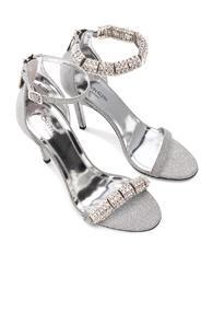 Calvin Klein 205w39nyc Camelle Diamond & Swarovski Embellished Sandals In Metallics