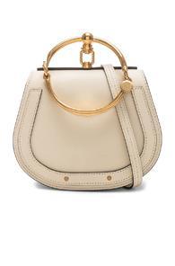Chloe Small Nile Bracelet Bag Calfskin & Suede In Neutral