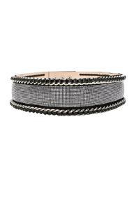 Balmain High Waist Chain Belt In Black,metallic