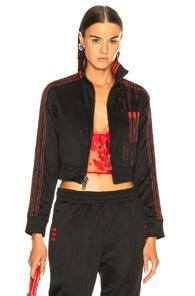 Adidas By Alexander Wang Crop Track Jacket In Black