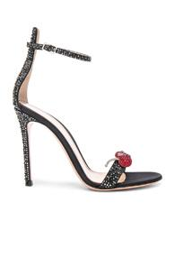 Gianvito Rossi Crystal Embellished Ankle Strap Sandals In Black