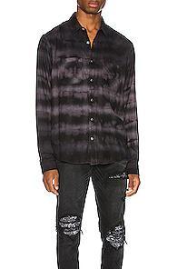 Amiri Tie Dye Shirt In Black,gray,ombre & Tie Dye