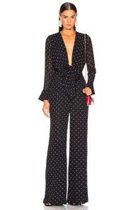 Alexis Shona Jumpsuit In Blue,polka Dots,red