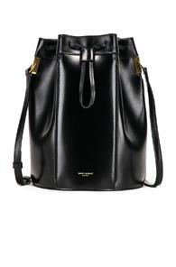 Saint Laurent Medium Talitha Pouch Bag In Black