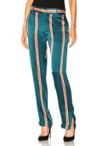 Equipment Florence Trouser Pant In Green,orange,stripes