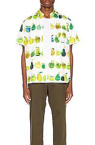 Junya Watanabe Print Pocket Shirt In Green,novelty,white