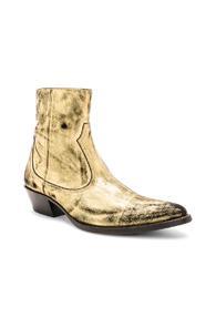 Amiri Western Metallic Boot In Metallics