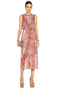 Zimmermann Rhythm Drape Dress In Pink,floral