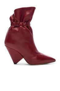 Isabel Marant Leather Lileas Boots In Red