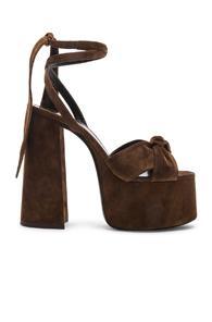 Saint Laurent Platform Sandals In Brown