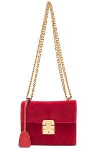 Mark Cross Velvet Zelda Bag In Red