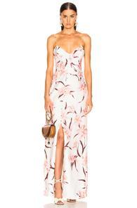 Zimmermann Corsage Slip Dress In Floral,pink,white