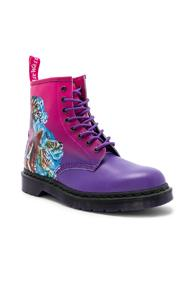 Dr. Martens X New Order 1460 Technique In Abstract,pink,purple