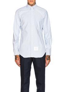 Thom Browne Classic Oxford Shirt In Blue