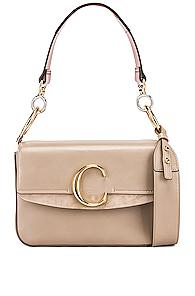 Chloe C Crossbody Bag In Gray