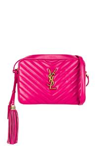 Saint Laurent Medium Monogramme Lou Satchel In Pink