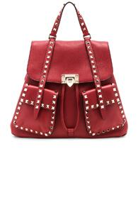 Valentino Rockstud Backpack In Red