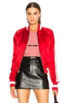 Amiri Reversible Track Jacket In Black,red
