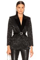 L'agence Neval Blazer With Contrast Lapel In Black