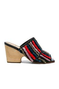 Rachel Comey Embroidered Dahl Sandals In Stripes,black