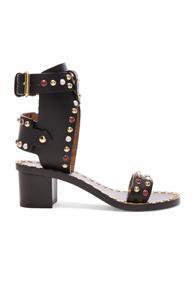 Isabel Marant Leather Jaeryn Sandals In Black