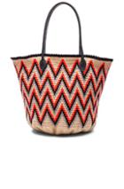 Sophie Anderson Jonas Leather 6 Tote In Abstract,neon,neutrals,orange