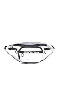 Alexander Wang Attica Soft Fanny Pack In Metallic Silver