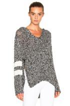 Pam & Gela Baja Sweater In Black,gray