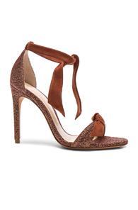 Alexandre Birman Suede And Metallic Fabric Clarita Heels In Brown