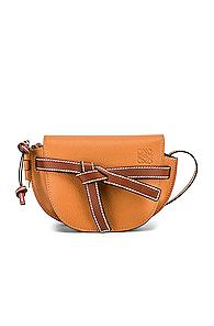 Loewe Mini Gate Bag In Brown