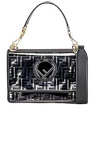 Fendi Kan I Logo Crossbody Bag In Black
