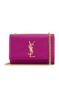 Saint Laurent Small Kate Monogramme Chain Bag In Pink,purple