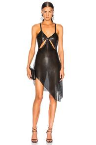 Fannie Schiavoni Metal Mesh Dress In Black