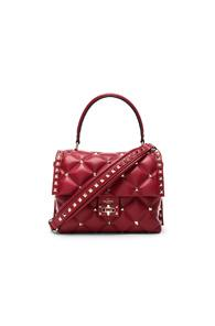 Valentino Candystud Top Handle Bag In Red