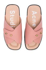 Acne Studios Leather Jilly Sandals In Pink