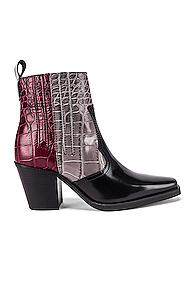 Ganni Western Boot In Red