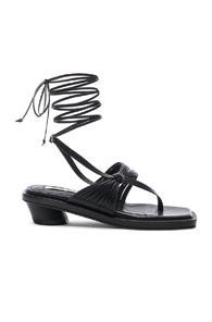 Reike Nen Unbalanced String Sandal In Black