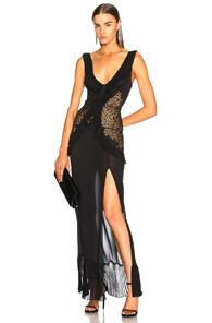 La Perla Quartz Garden Night Gown In Black
