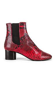 Isabel Marant Danae Boot In Animal Print,red