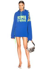 Fenty By Puma Side Laced Hoodie Dress In Blue